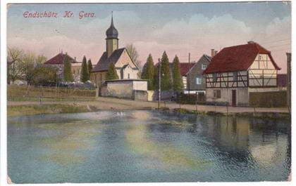 Postkarte Endschütz Teich um 1867