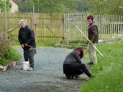 Frühjahrsputz im Rittergut Kleingera am 03.05.2014