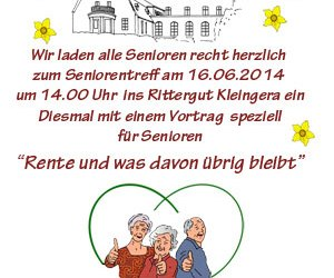 3. Seniorentreff im Rittergut am 16.06.2014