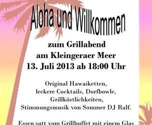 Grillabend am 13.07.2013