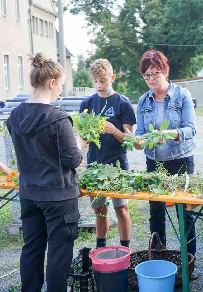Projekttag Trias Oberschule Elsterberg im Rittergut Kleingera