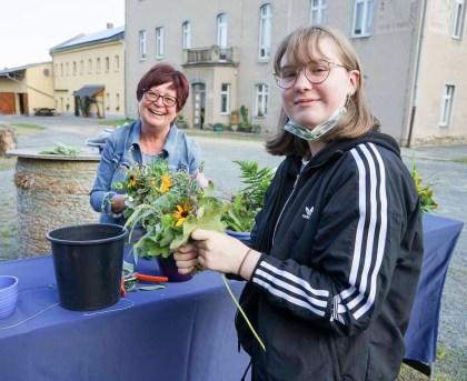 Rosalie und Rosalie Projekttag Trias Oberschule Elsterberg im Rittergut Kleingera
