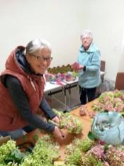 Gespendete Hortensienblüten