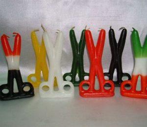 velas con forma de tijera