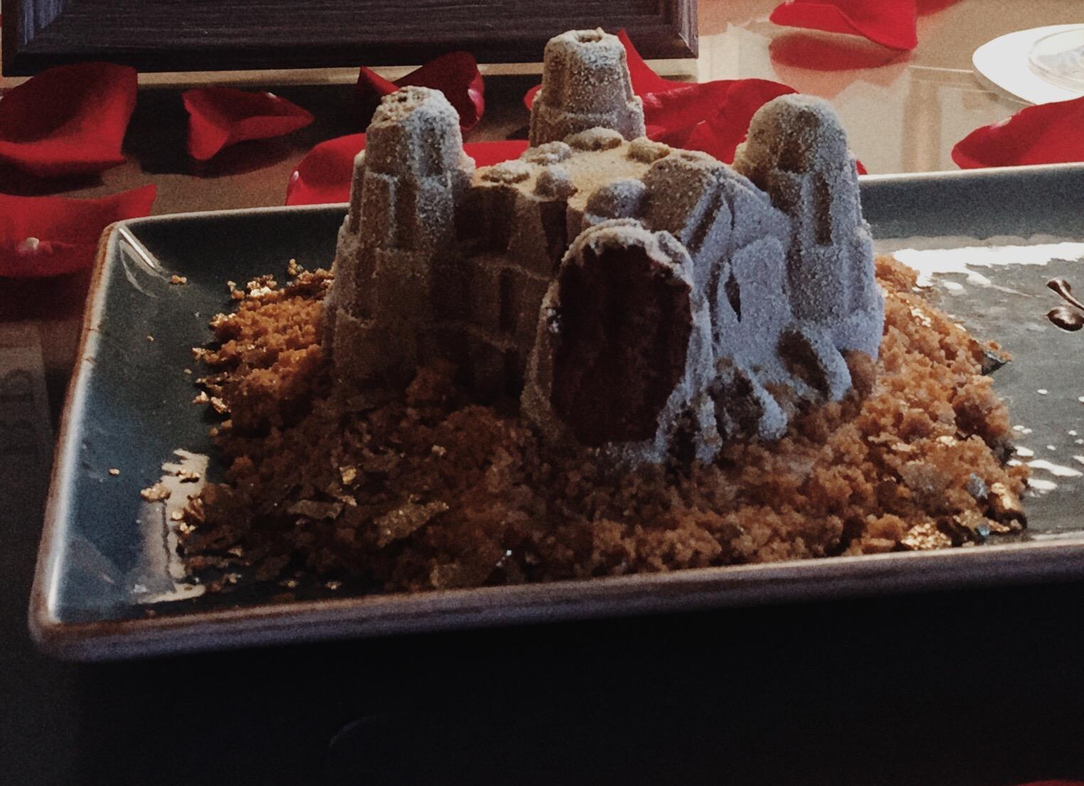 sand castle chocolate mousse