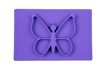 purple butterfly mat