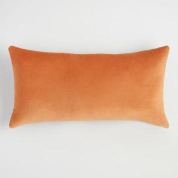 world market copper velvet pillow