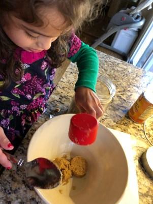 Measuring brown sugar