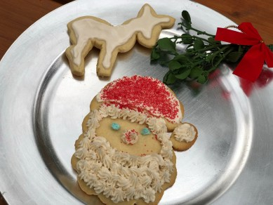 Santa and Reindeer cookies