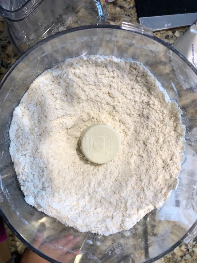 Pulsed flour, sugar, salt