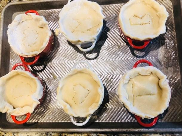 Cut slits to vent pot pies
