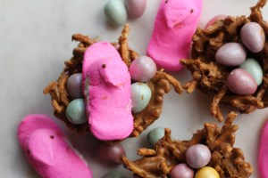 Easter birds Nests with peeps