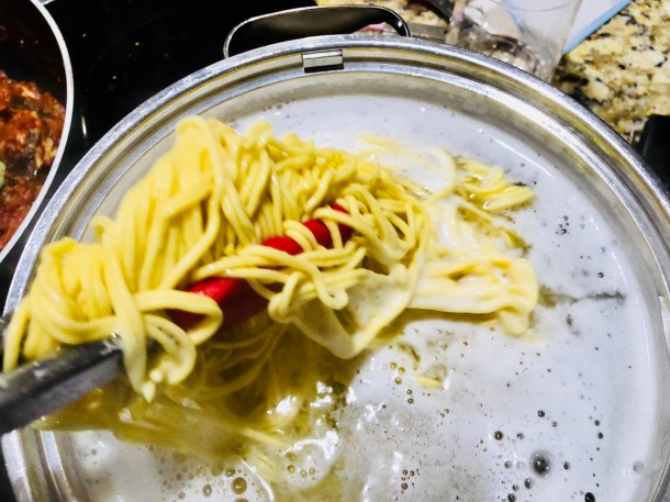 Test homemade pasta at 2 minutes