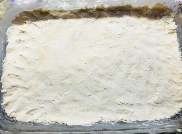 Press crust into pan