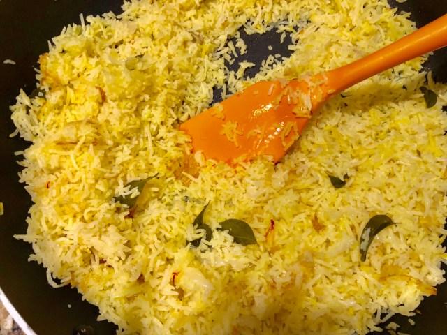 Sri Lankan Yellow Rice Cooked