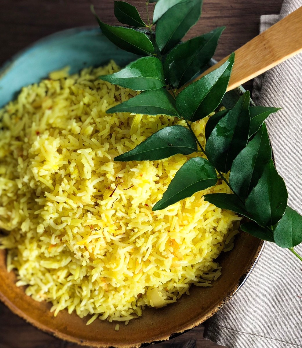 Sri Lankan Yellow Rice (Kaha Bath)