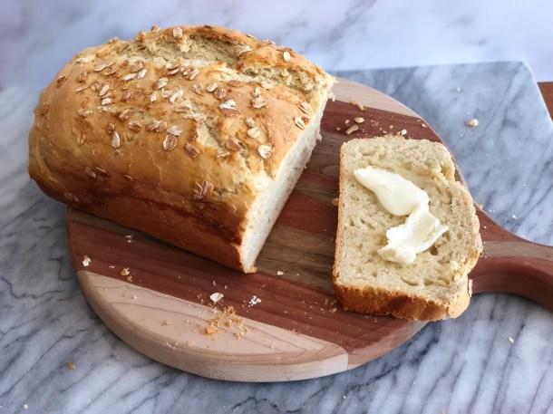 honey oat bread loaf