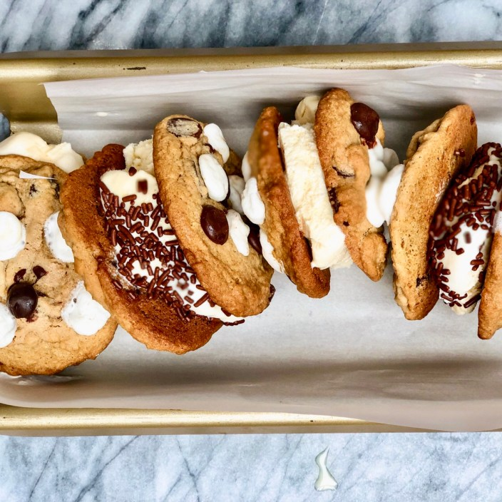 Cookie Ice Cream Sandwiches