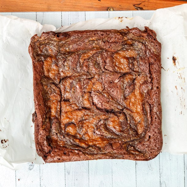 pumpkin swirl brownies
