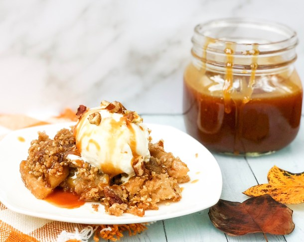 bourbon apple crisp
