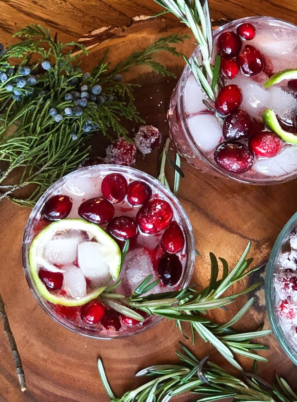 juniper berry cranberry cocktail