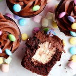 chocolate cupcakes with marshmallow filling