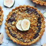 fig, apple, walnut tarts