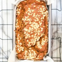 Healthy Pumpkin Banana Oat Bread (Vegan & Gluten Free)