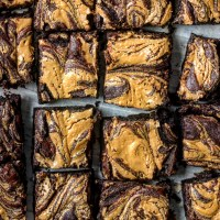 Dark Chocolate Peanut Butter Brownies