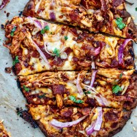 BBQ Chicken Bacon Naan Flatbreads