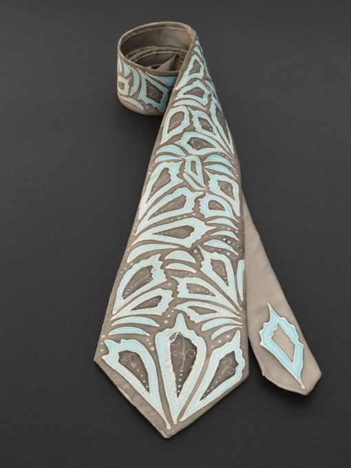Blue Grey Necktie for him