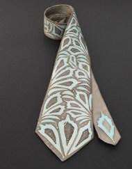Blue Grey Necktie for him