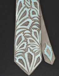 Blue Grey Necktie Abstract