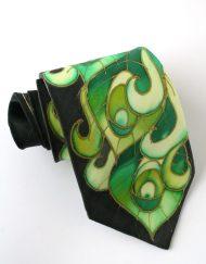Green Peaock Necktie
