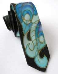 Peacock Feathers Skinny Tie