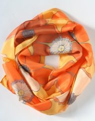 Orange Flower Scarf