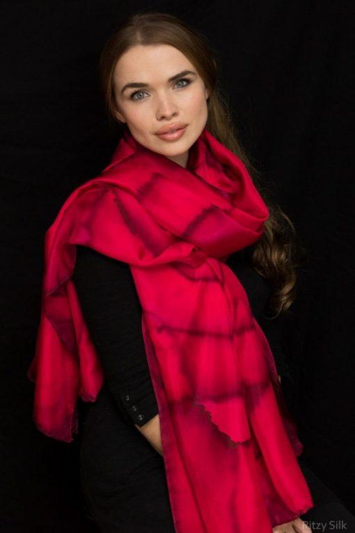 Red Silk Wrap