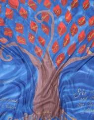 Family Tree silk wrap