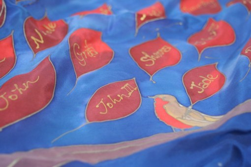 Family Tree silk scarves