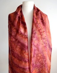 Garnet Copper Silk Scarf