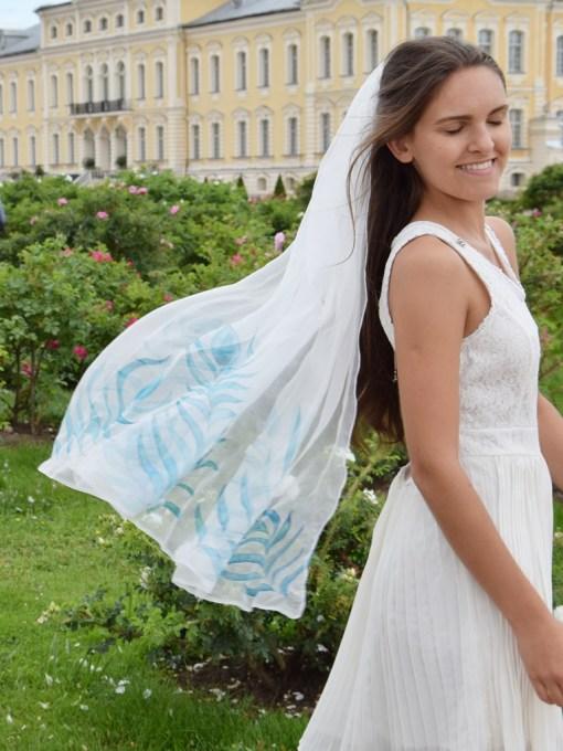 Peacock silk Veil