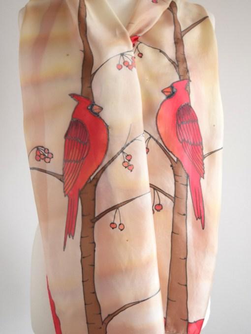Red Cardinal Bird Scarf