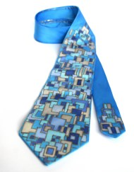 Blue Squares Tie