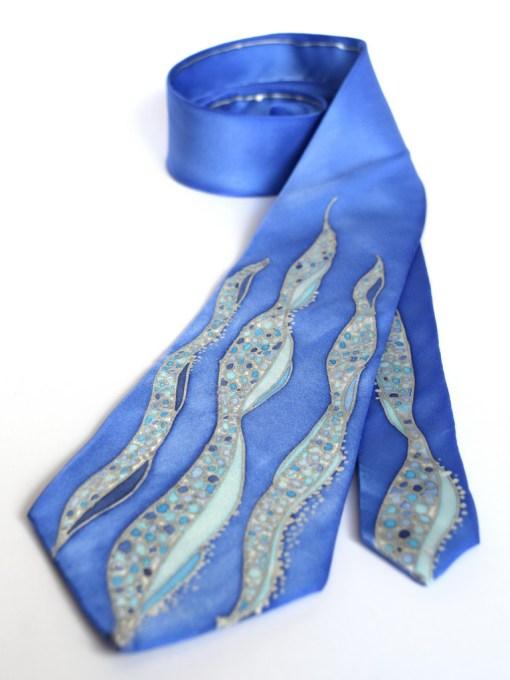 Blue Waves silk neckties