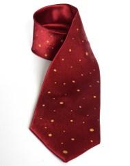 Crimson Dotted Tie