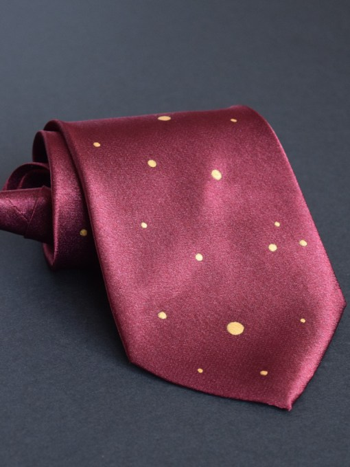Dotted Maroon Necktie