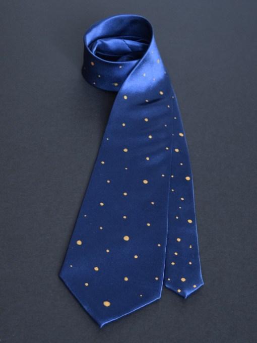 Navy Polka Dot Tie