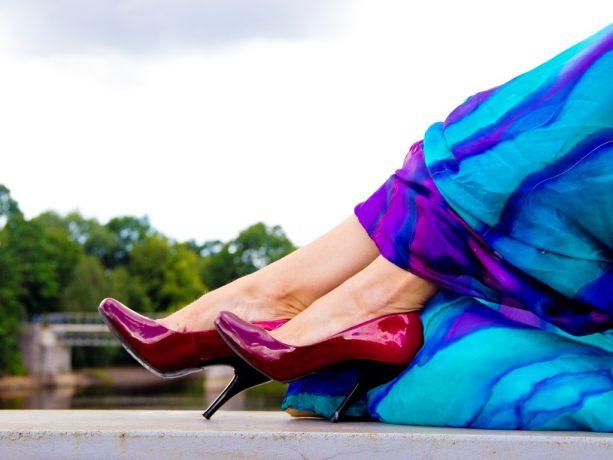 Red Heels & Silk scarves