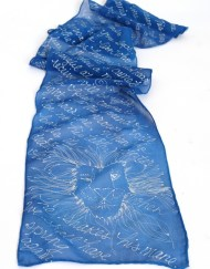 Blue Aslan Book Scarf Lion Face