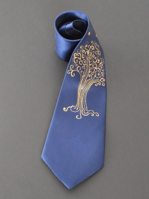 Blue LOTR Star Tree Tie for him